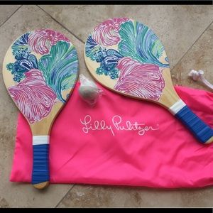 Beach Paddle Ball Set